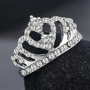 🎆SZ 8 🎄🎁Princess Crown Ring AAA+CZ🎄🤗Silver🎆
